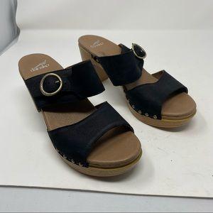 DANSKO Double Strap Leather Heeled Sandal